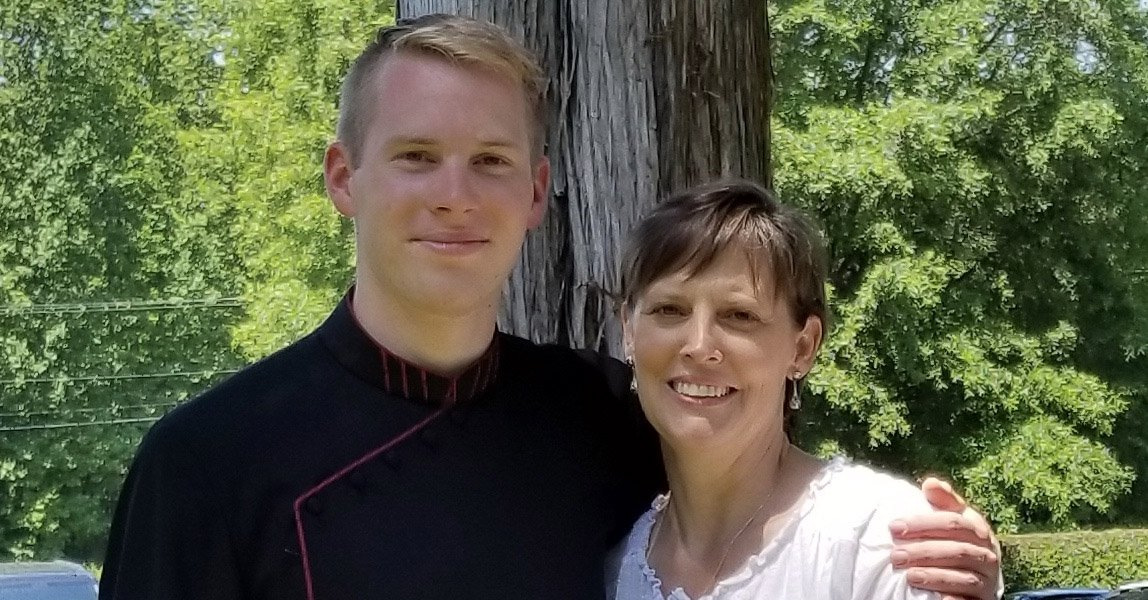 Aaron and his mom